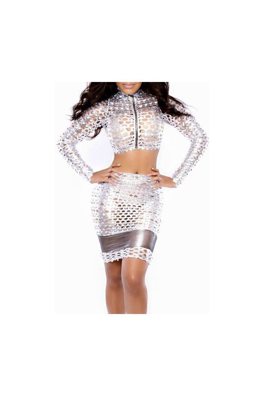 Sexy stříbrné šaty - do klubu