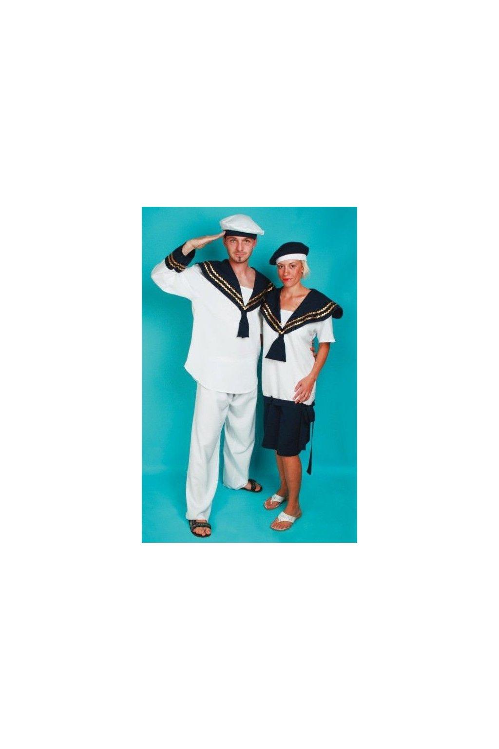 Kostým námořník - bílý