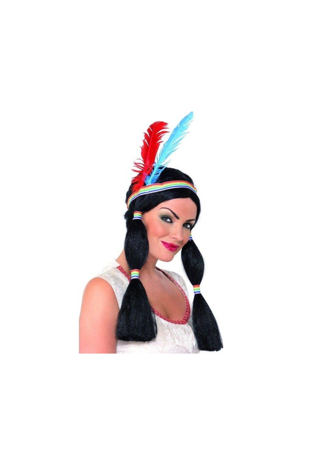 Indiánská paruka - dámská