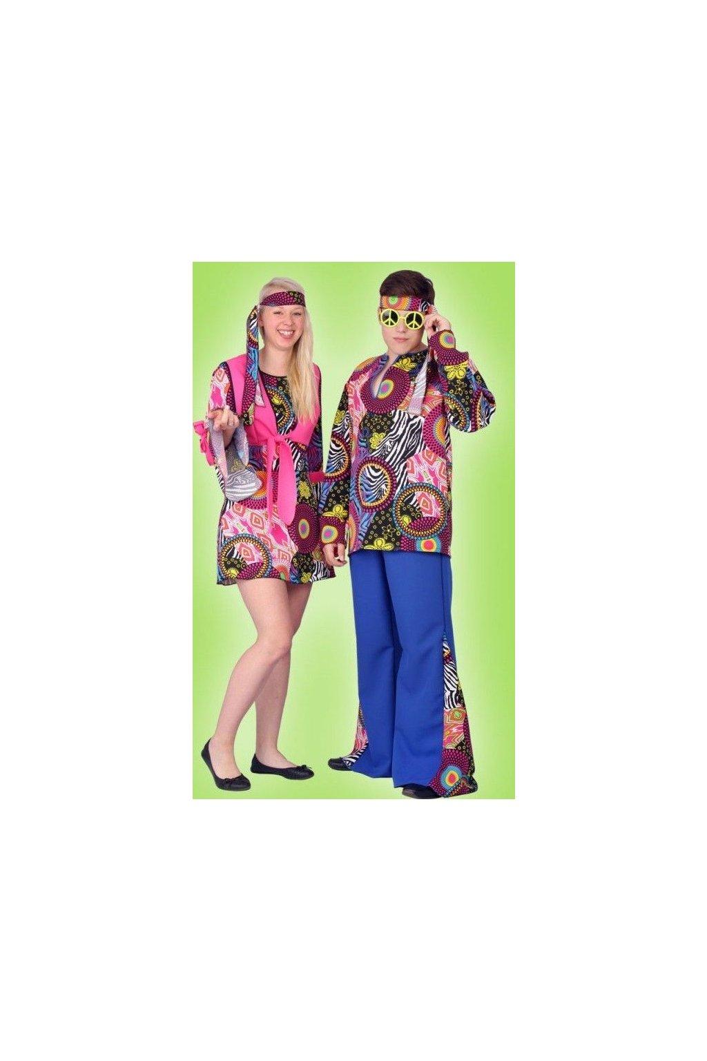 Kostým hippie psychedelic