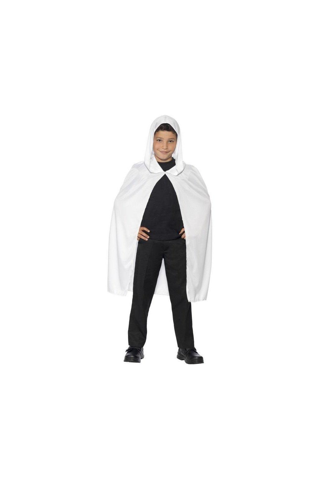 Dětský plášť - bílý s kapucou