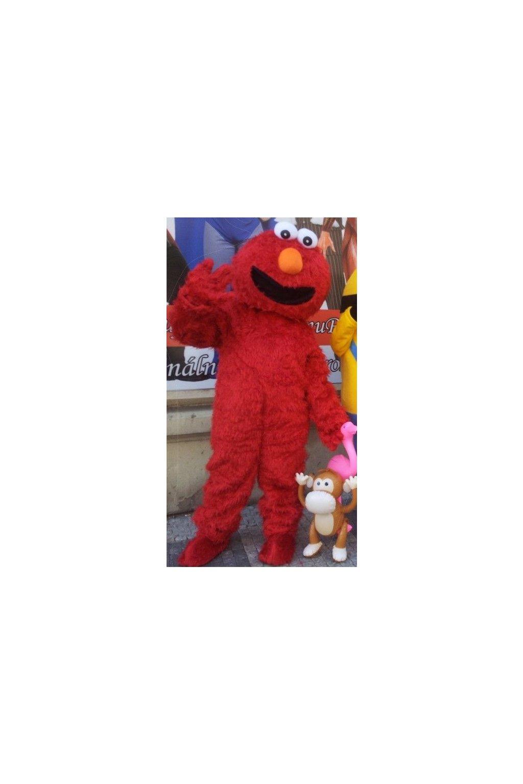 Maskot Red Elmo - Sezamová ulice