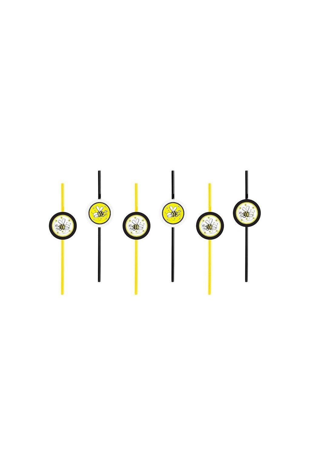 Narozeninová brčka - včelka - 6ks