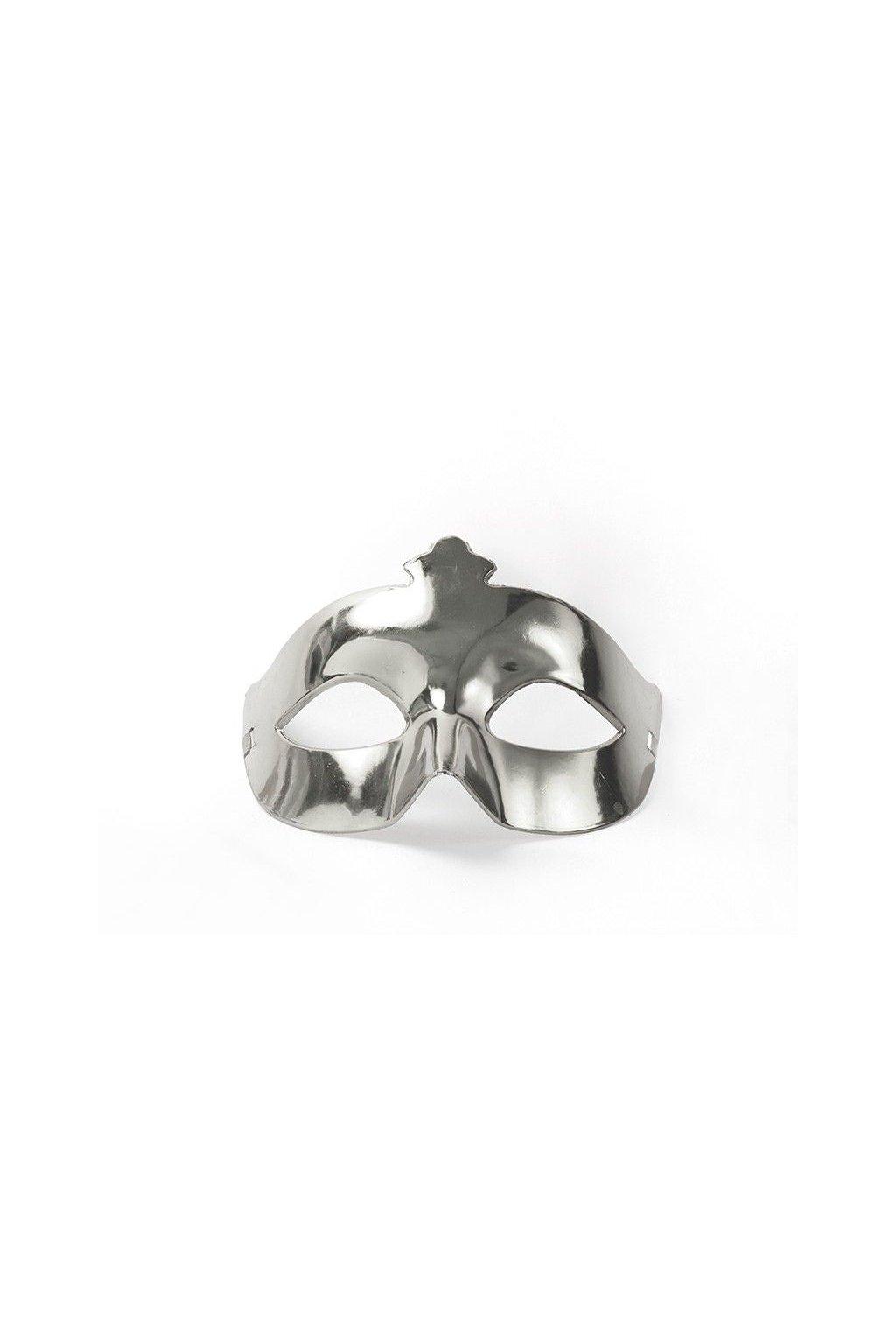 Levná škraboška - stříbrná
