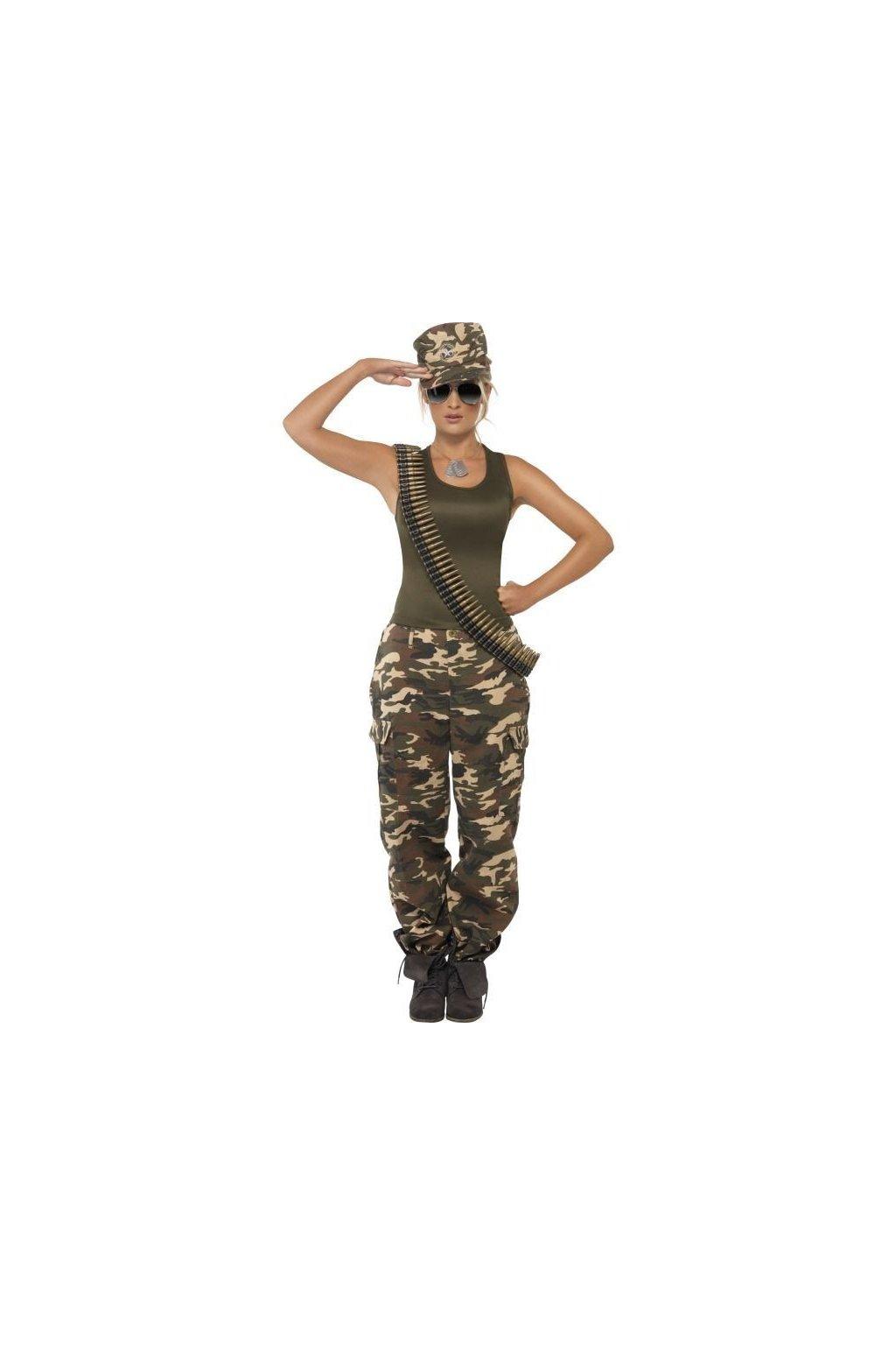 Kostým vojanda - maskáče