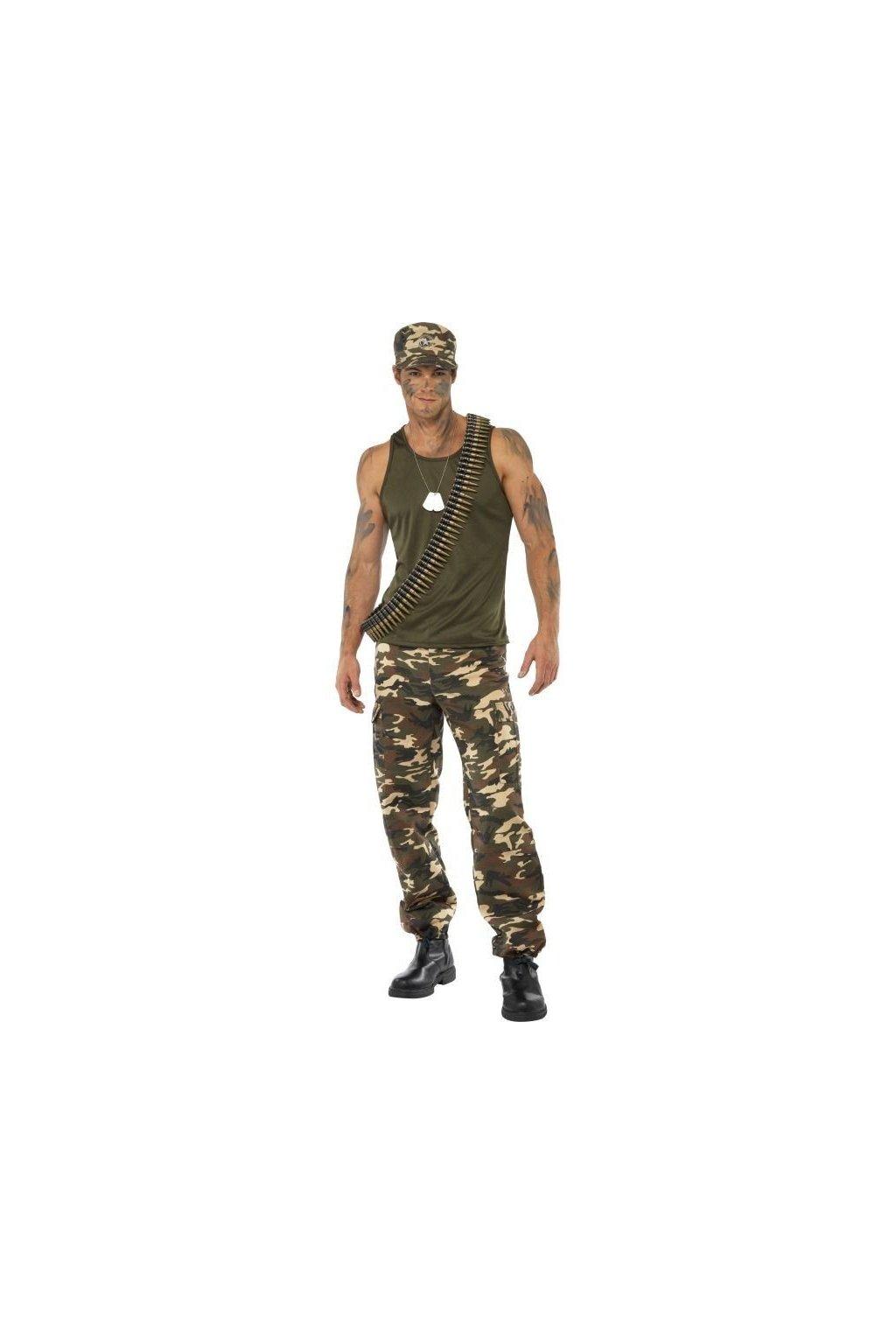 Kostým voják - deluxe