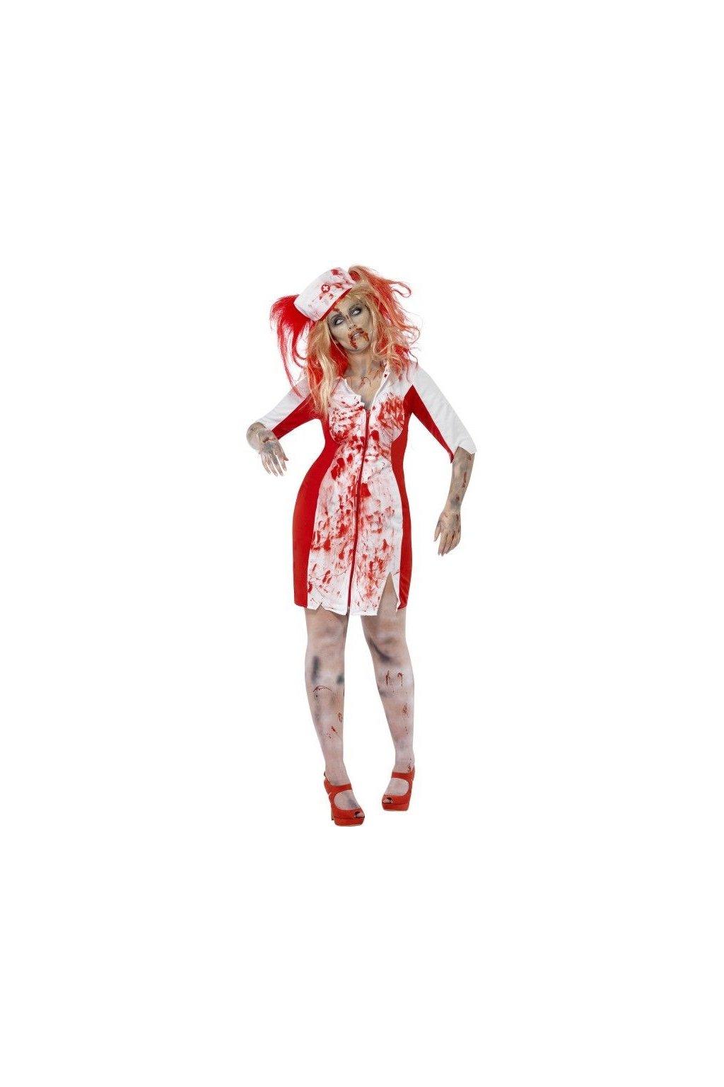 Kostým halloweenská sestřička plus size