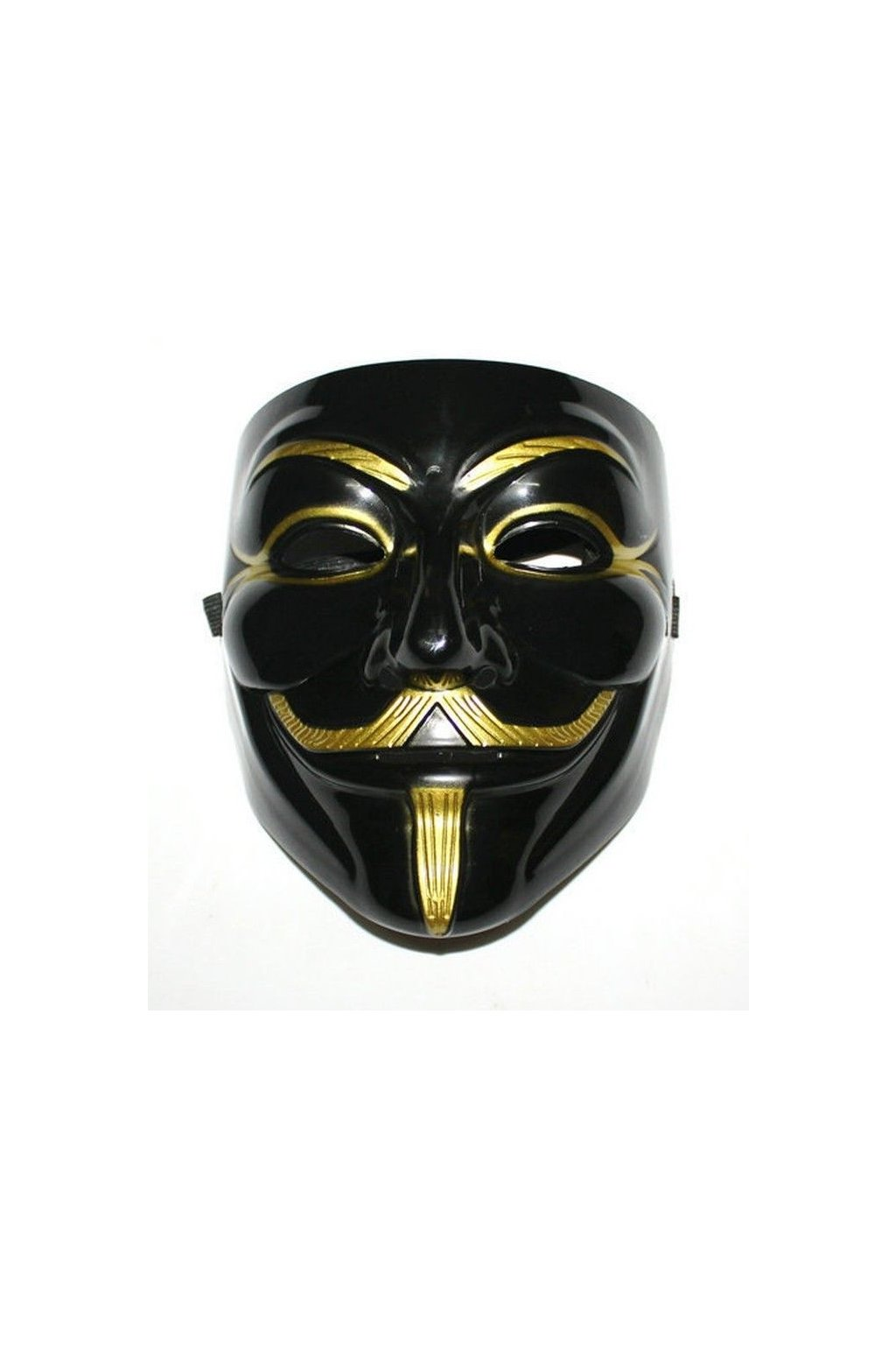 Maska Anonymous/Vendetta - black/gold