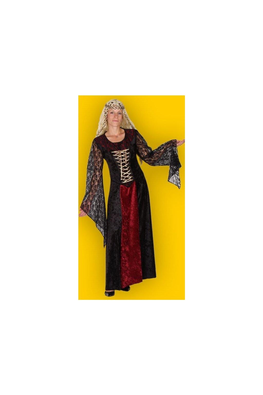 Středověký kostým - hradní dáma