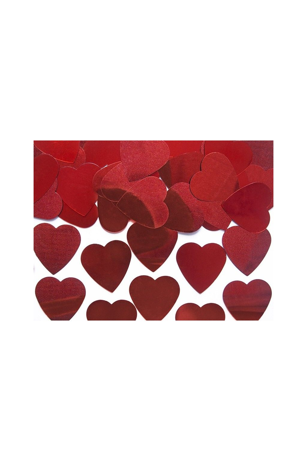 Červené srdíčka - konfety