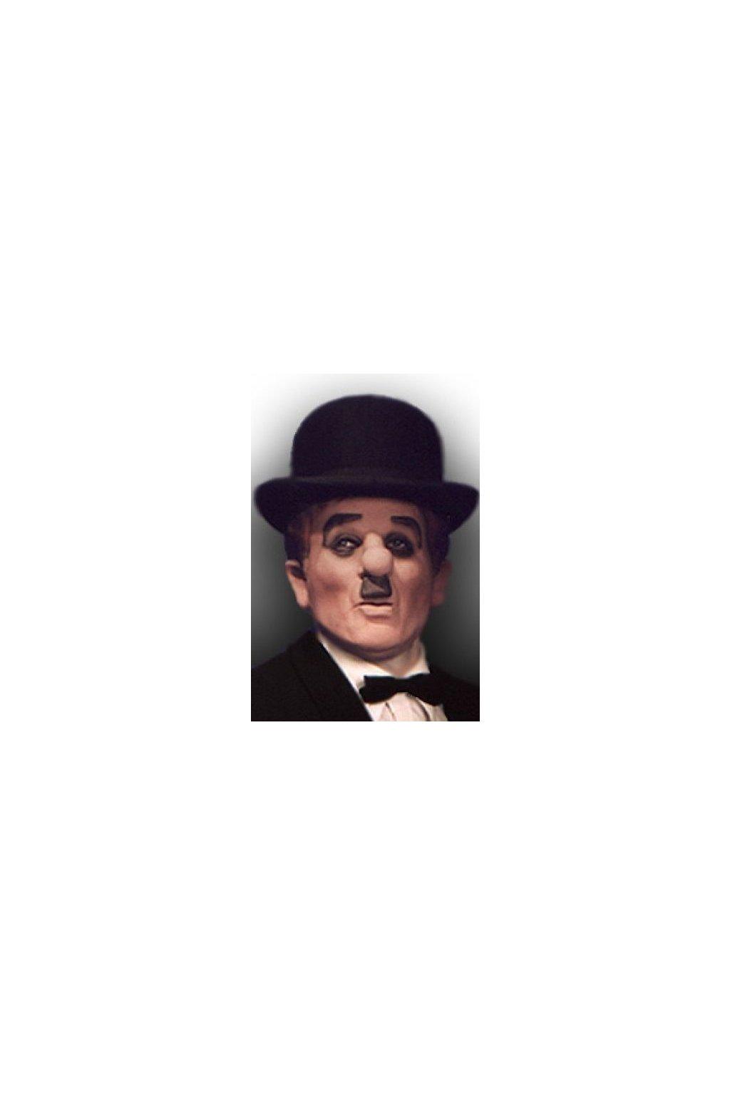 Latexová maska Charlie Chaplin