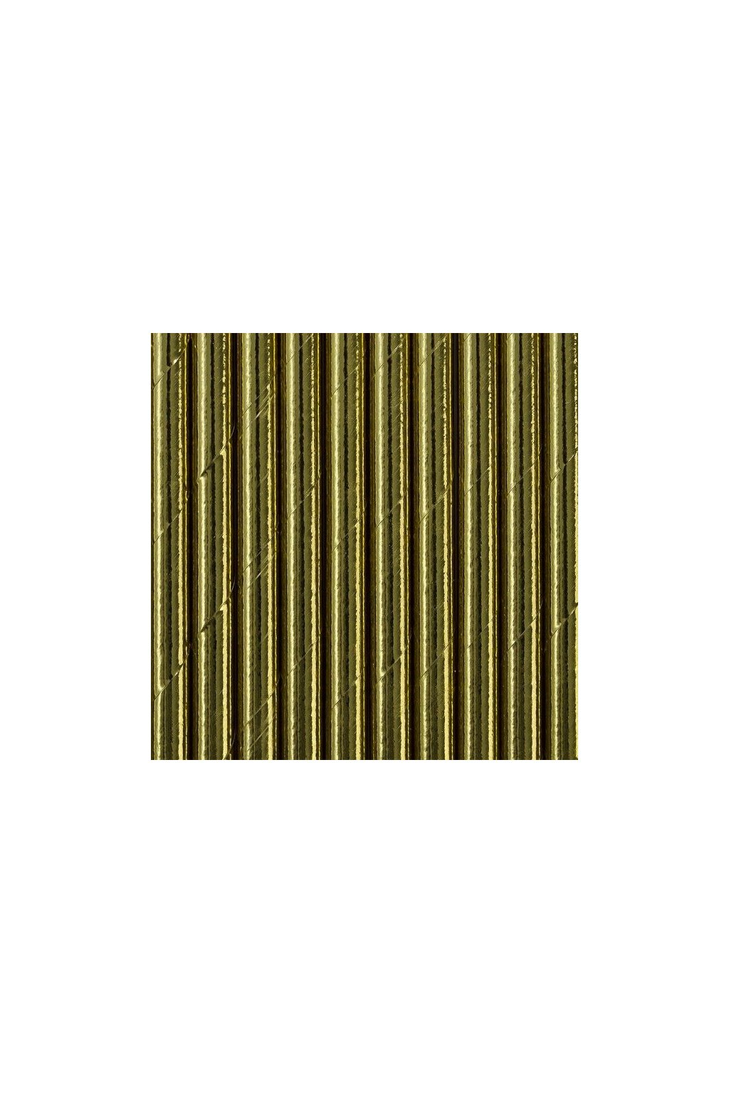 Papírová brčka - zlaté - 10ks