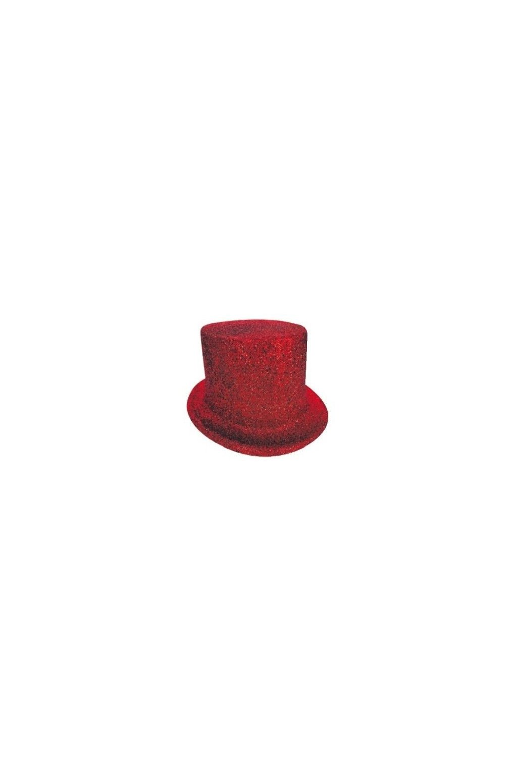 Párty klobouk - cylindr červený