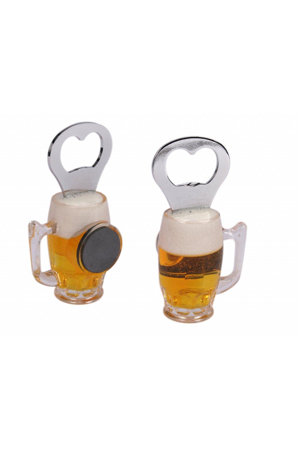 Magnetický otvírák na láhve ve tvaru piva