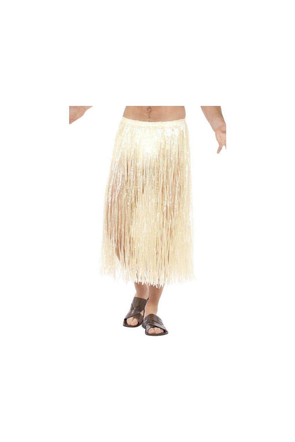 Hawaiská sukně dlouhá - béžová