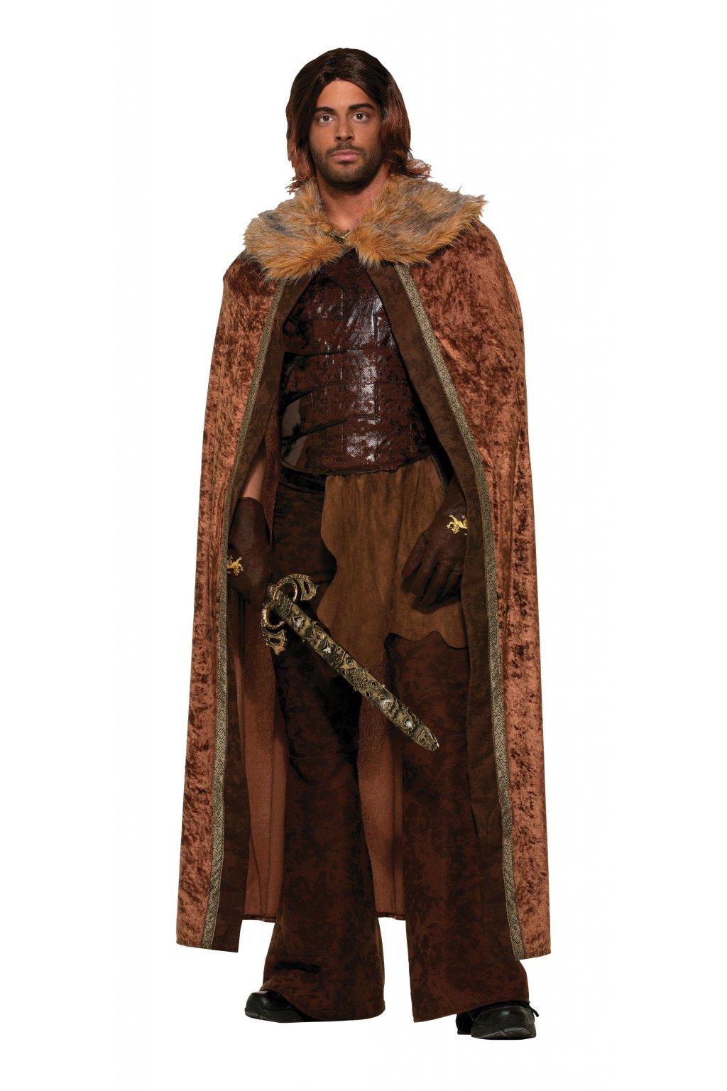 Středověký plášť - hnědý
