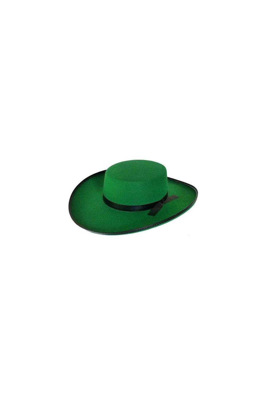 Klobouk zelený s černou stuhou