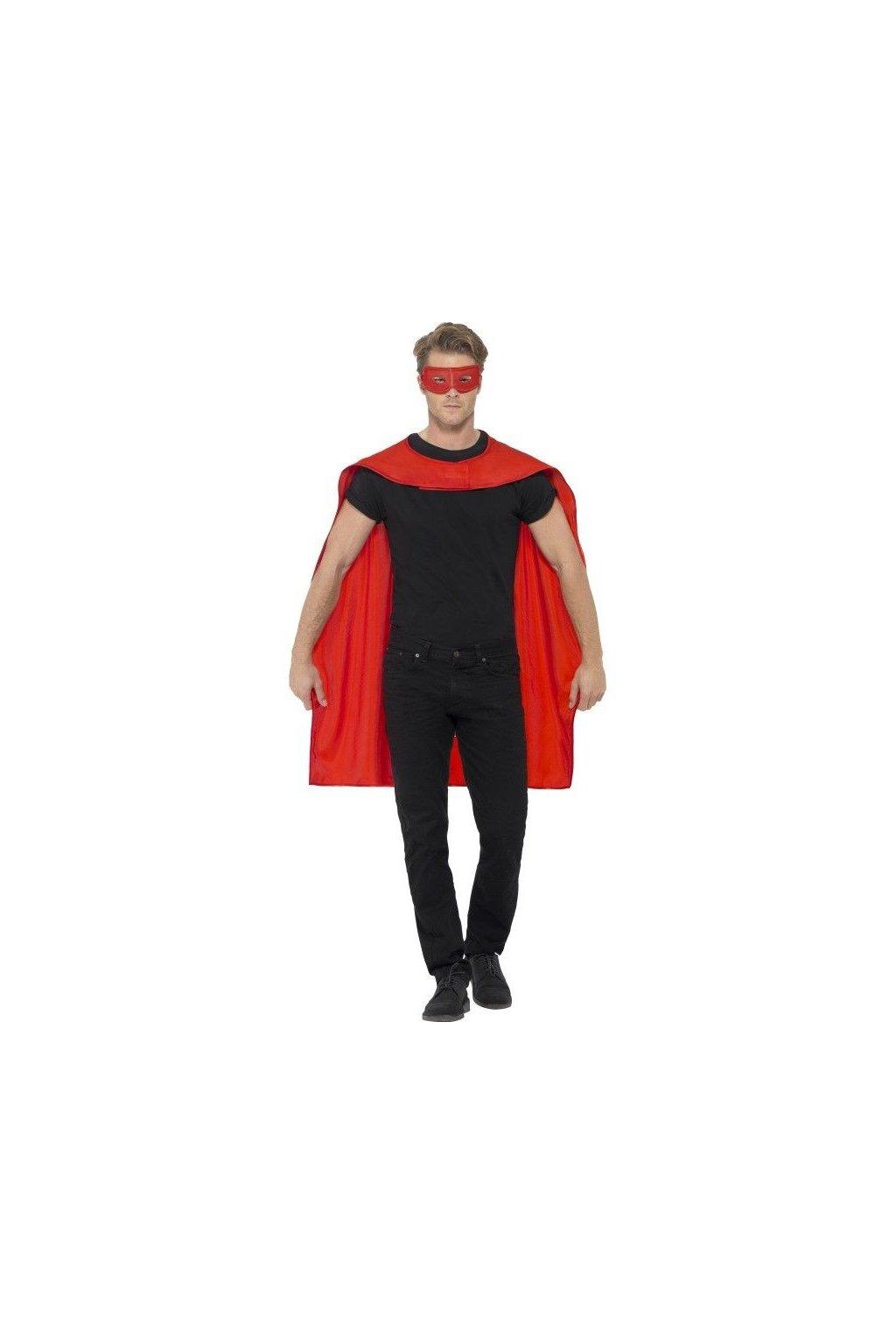 Červený plášť s maskou