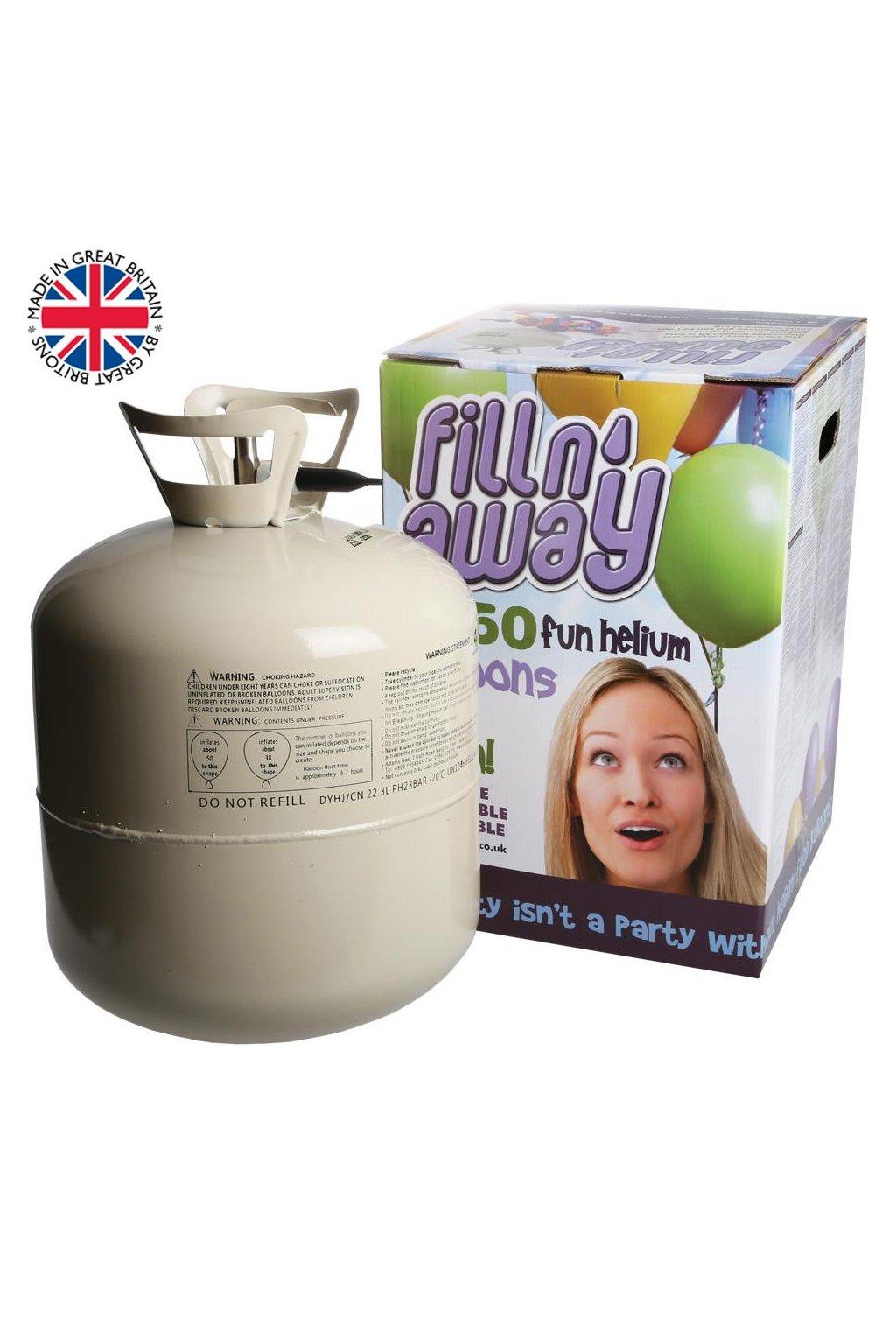 Helium do balónků 50 - 450 litrů