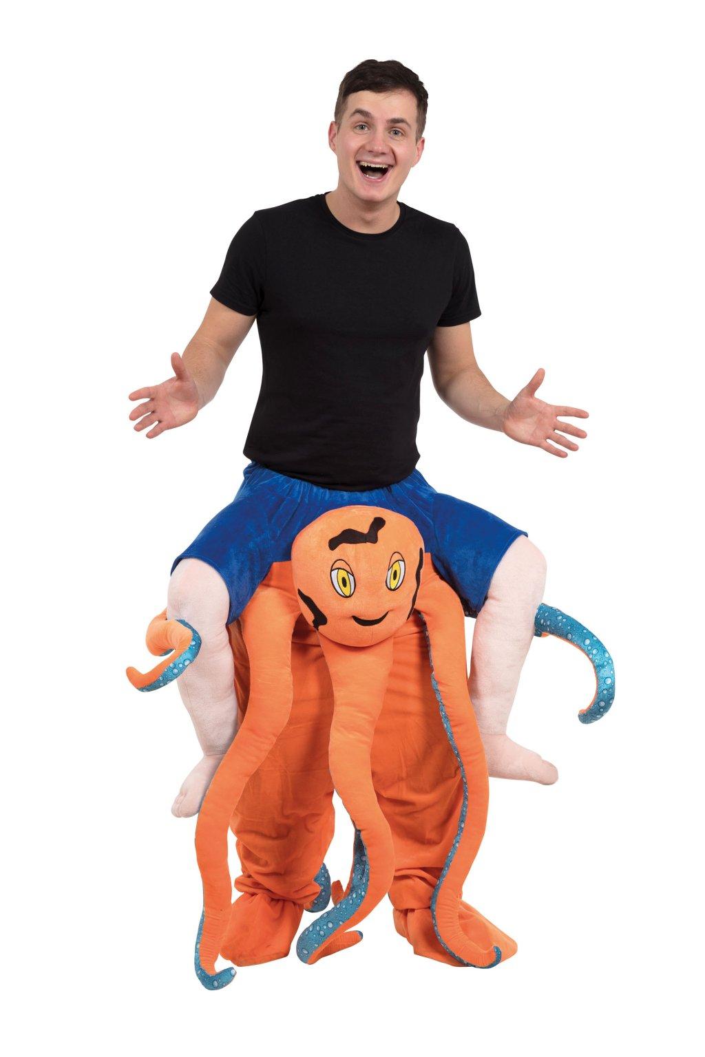 Kostým veselé chobotnice - piggyback