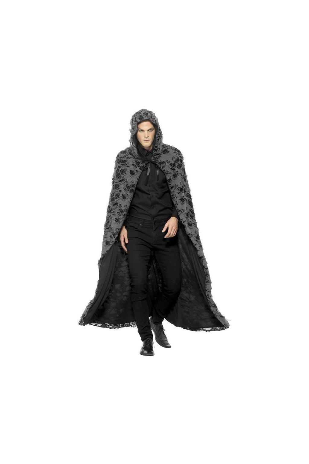 Dlouhý plášť s kapucí