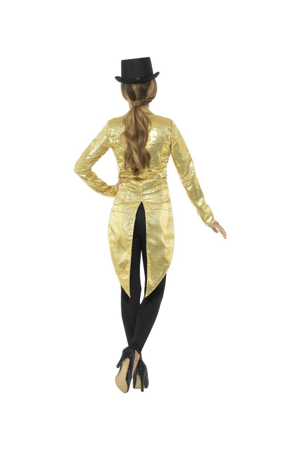 Flitrované dámské sako - zlaté