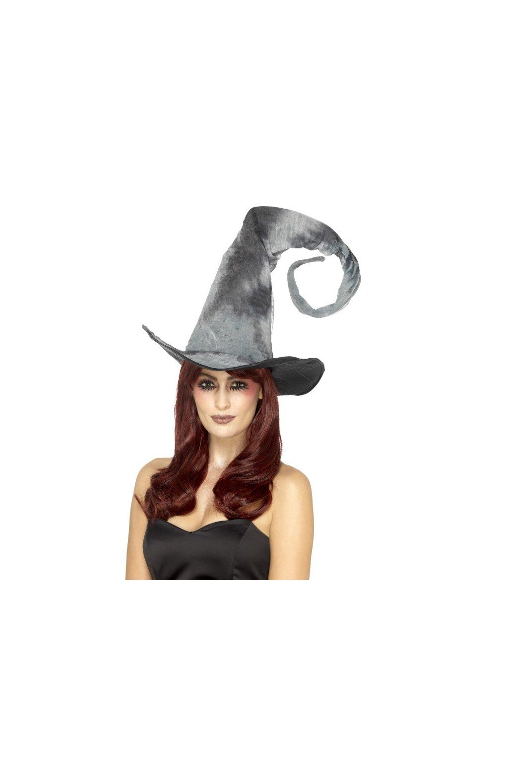Šedý čarodějnický klobouk