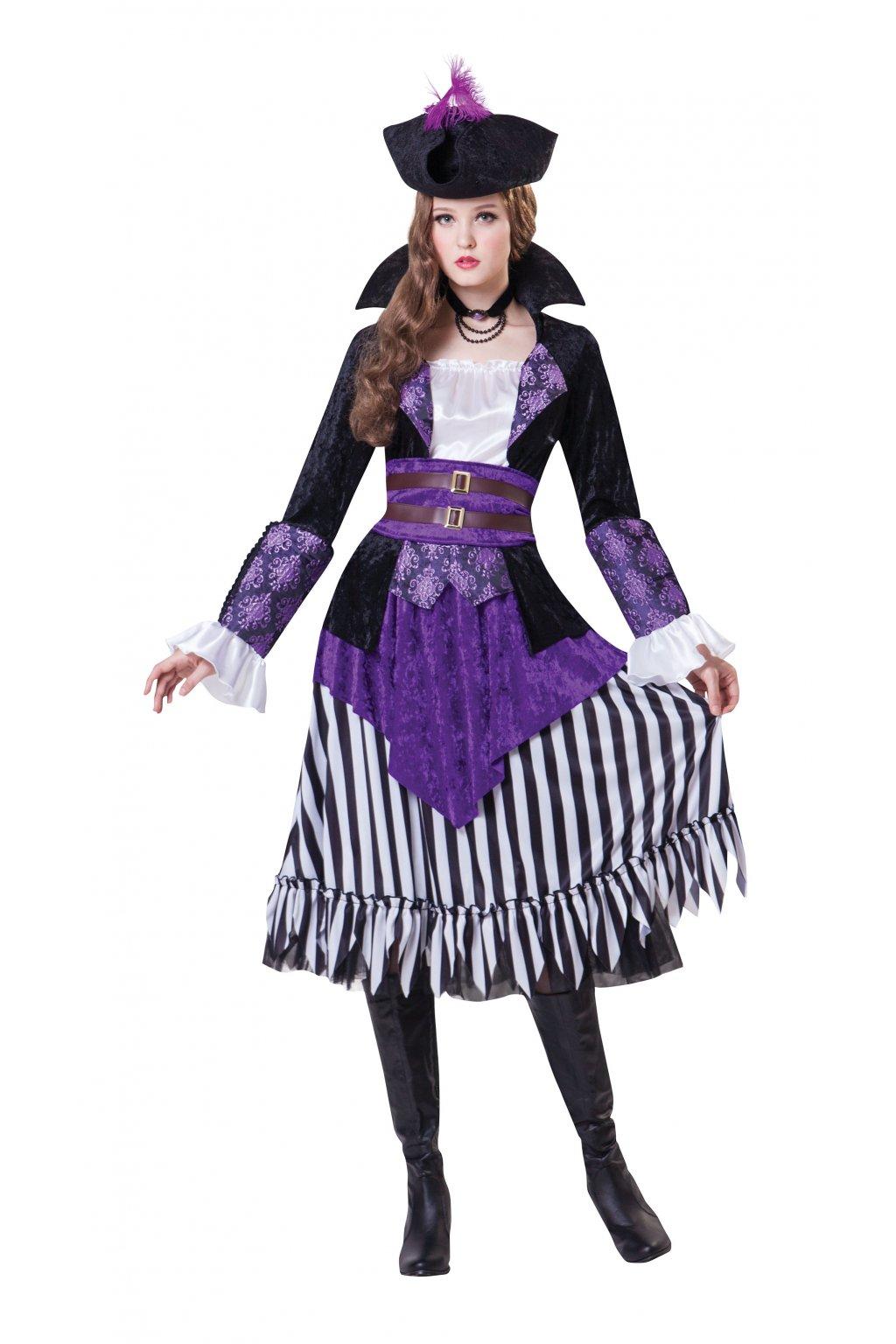 Kostým pirátská Lady - fialový