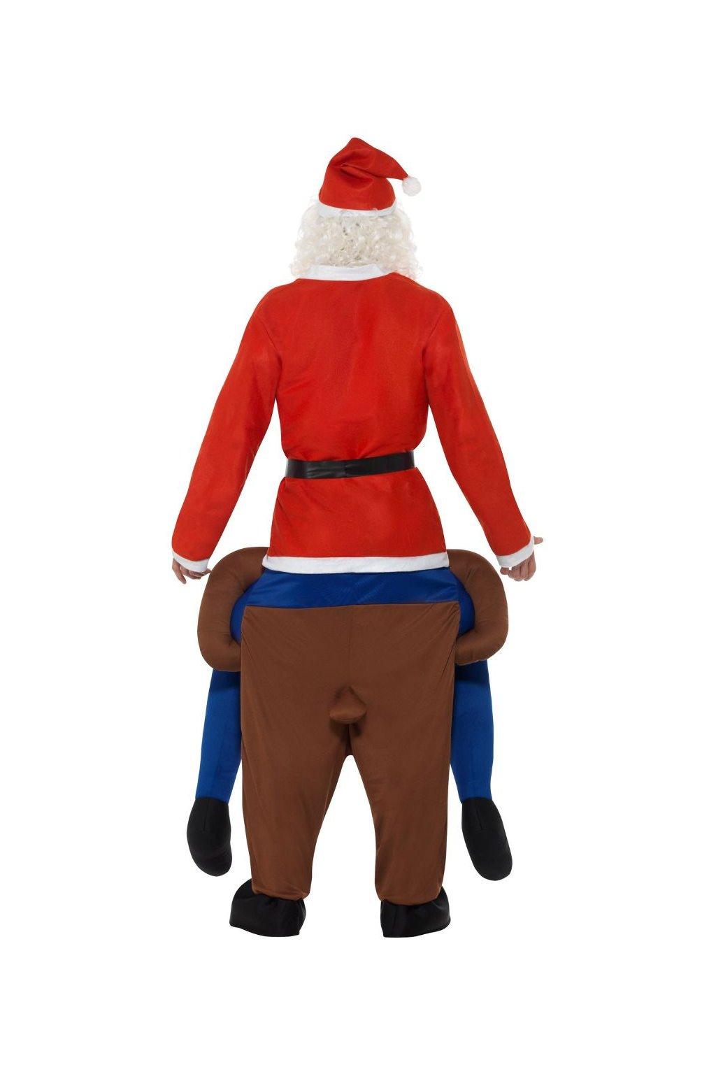 Kostým - Santa na sobovi Piggyback