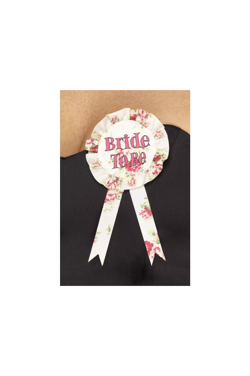 Odznak Bride to be - rozlučka se svobodou