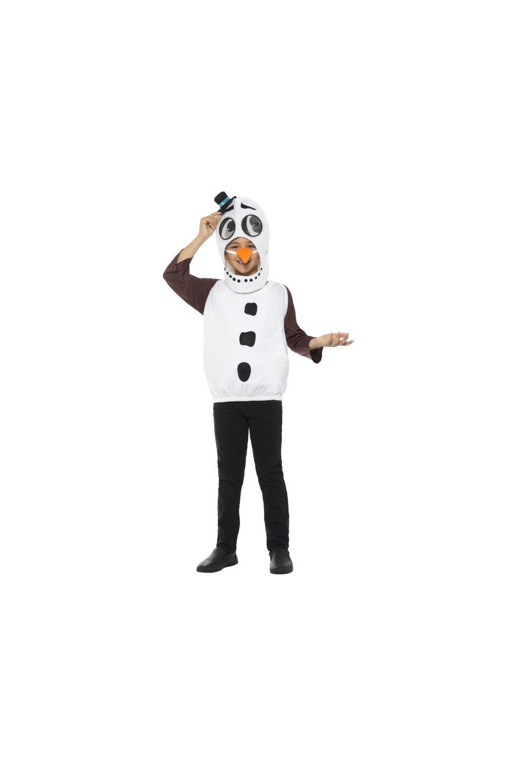 Kostým sněhuláka - dětský deluxe