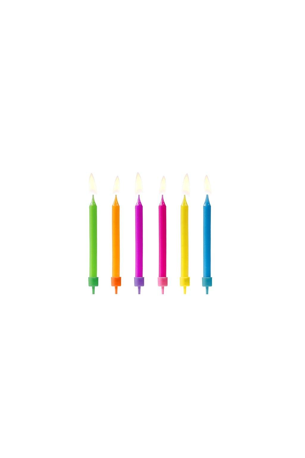 Dortové svíčky barevné 6ks