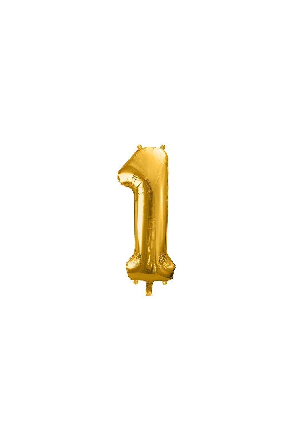 Fóliový balónek číslo 1 - zlatý 86cm