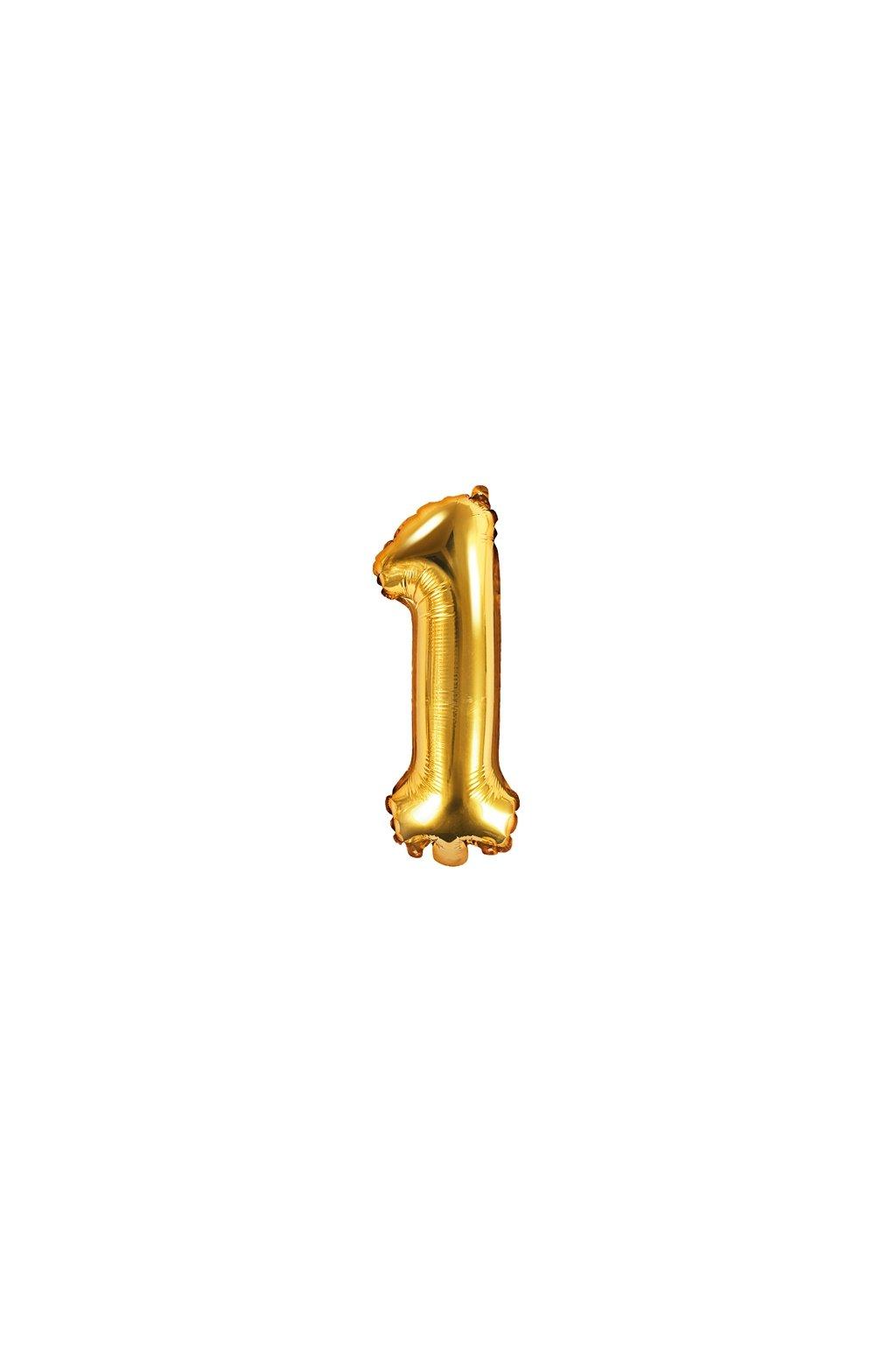 Fóliový balónek číslo 1 - zlatý 35cm