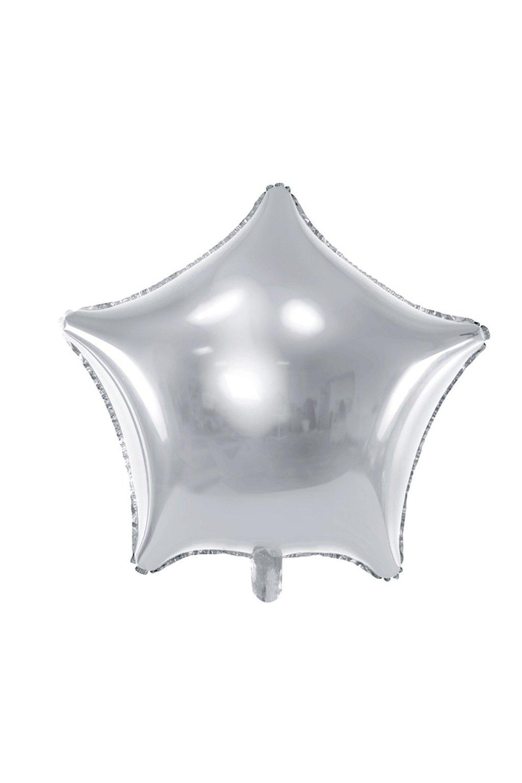 Fóliový balónek 48cm - Hvězda stříbrná