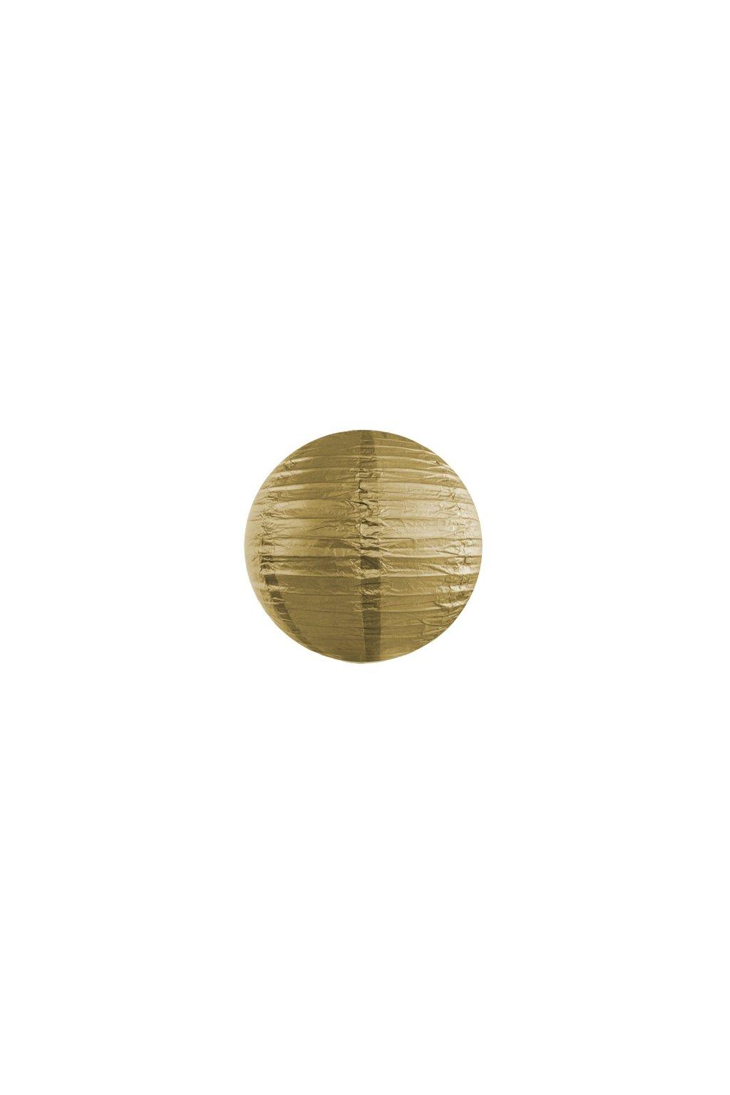 Lampión kulatý - zlatý