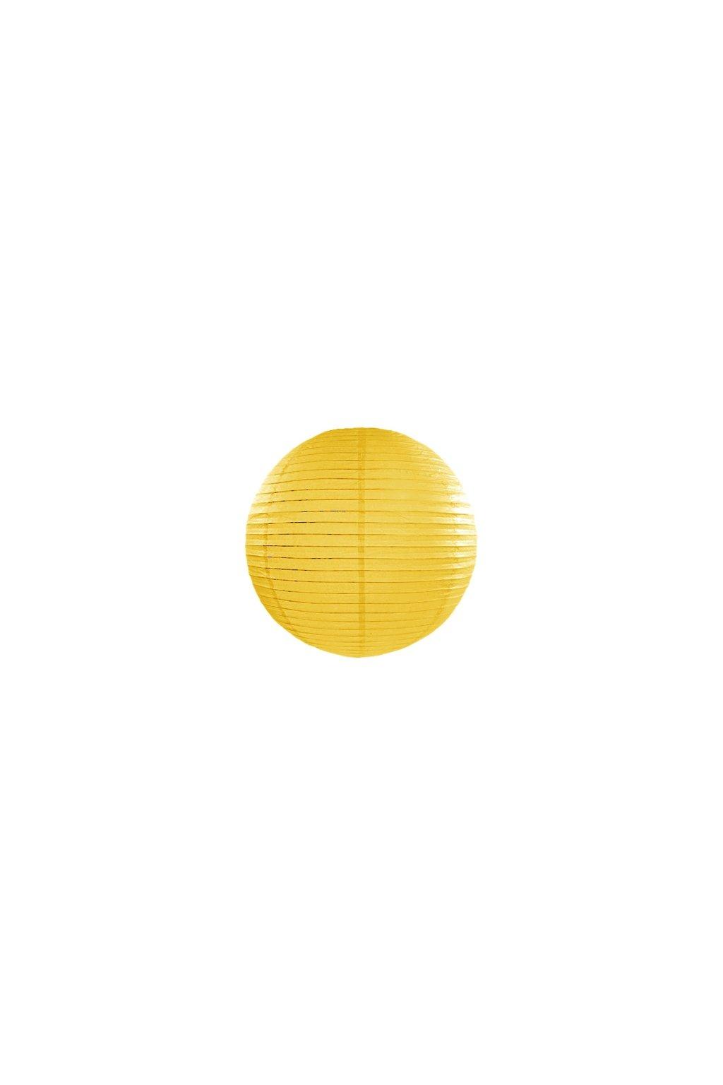 Lampión kulatý - žlutý