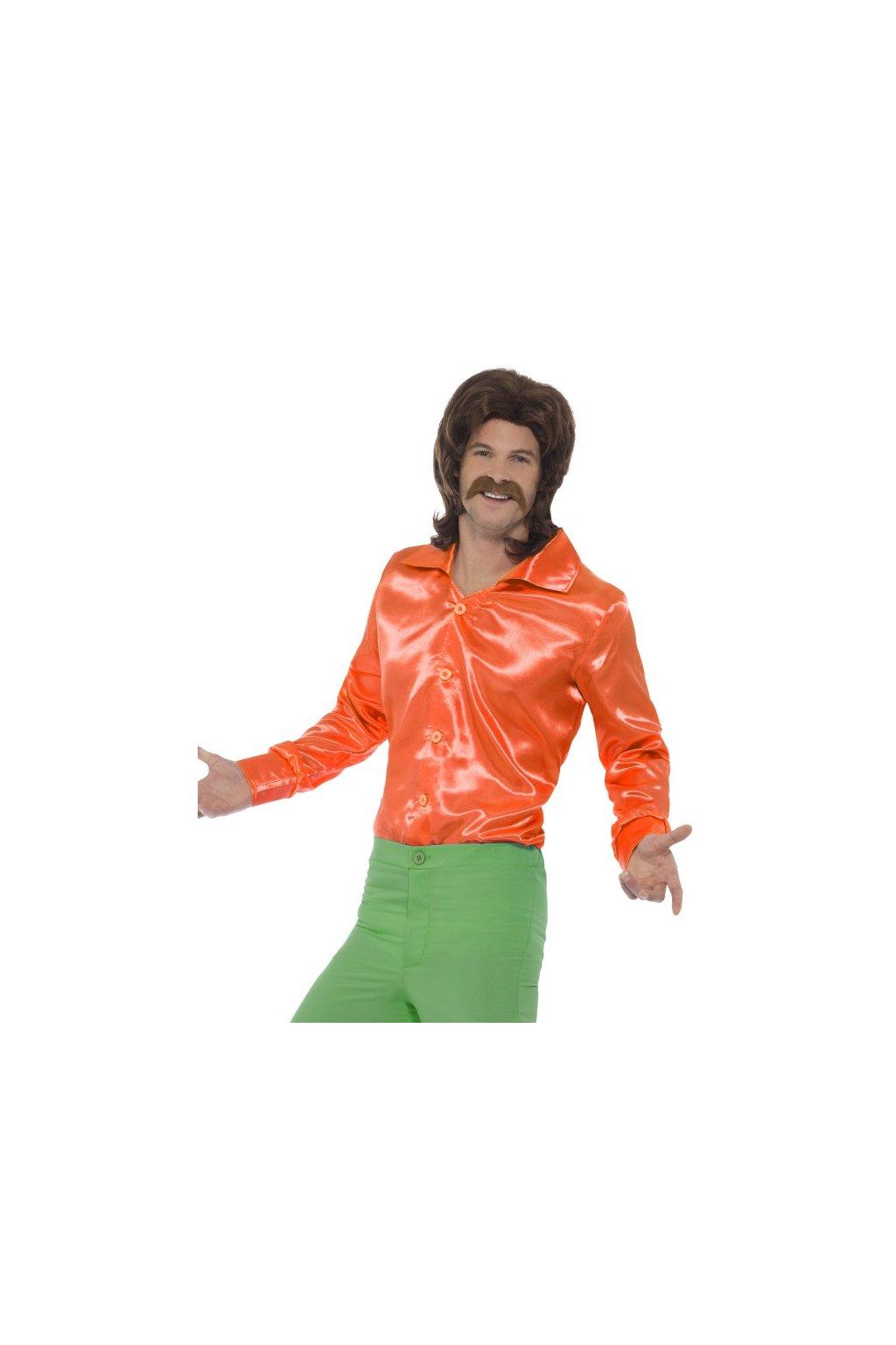 Retro košile oranžová