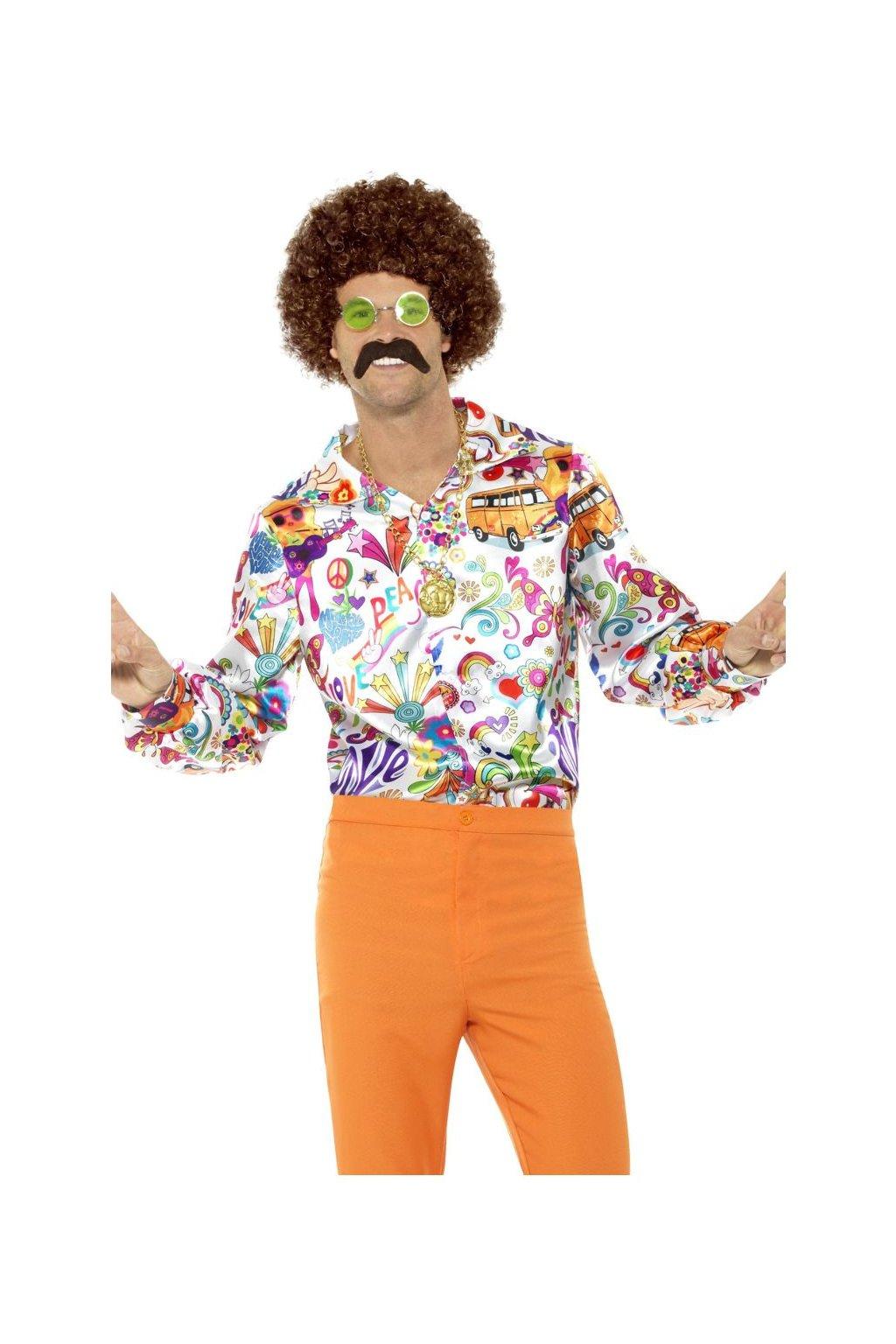 Pánská retro košile 60. léta - psychedelic