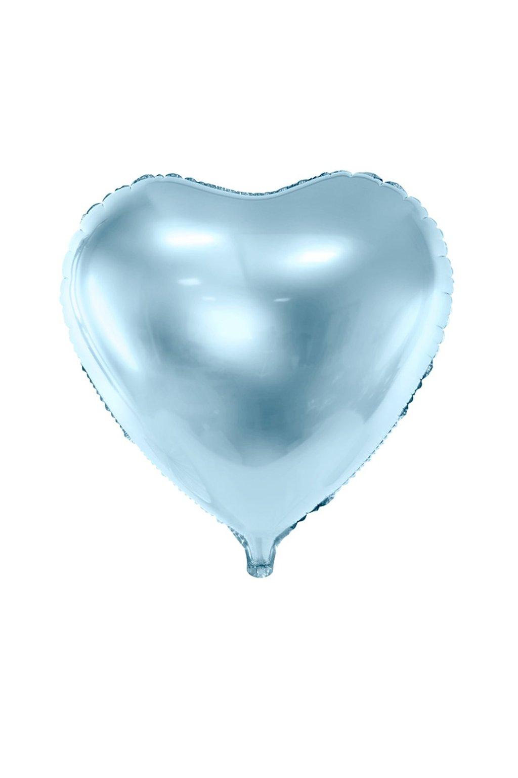 Fóliový balónek 45cm - Srdce světle modré