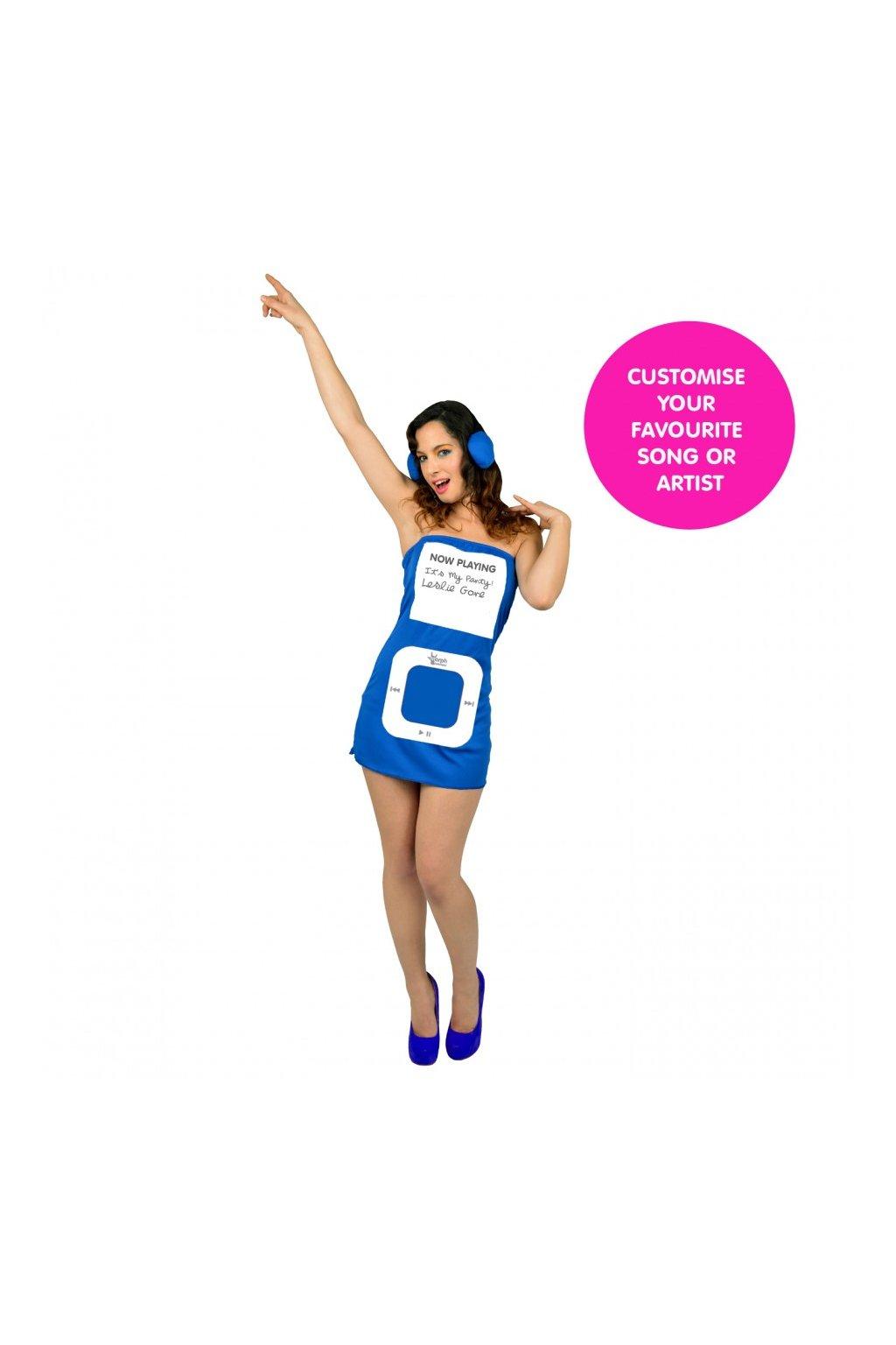 Kostým MP3 přehrávač - modrý