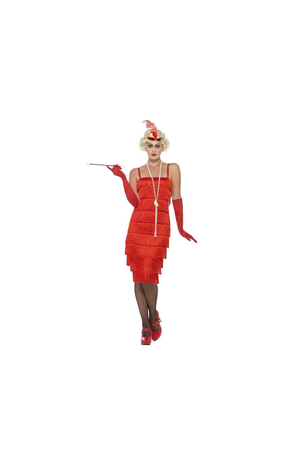Charlestonový kostým červený