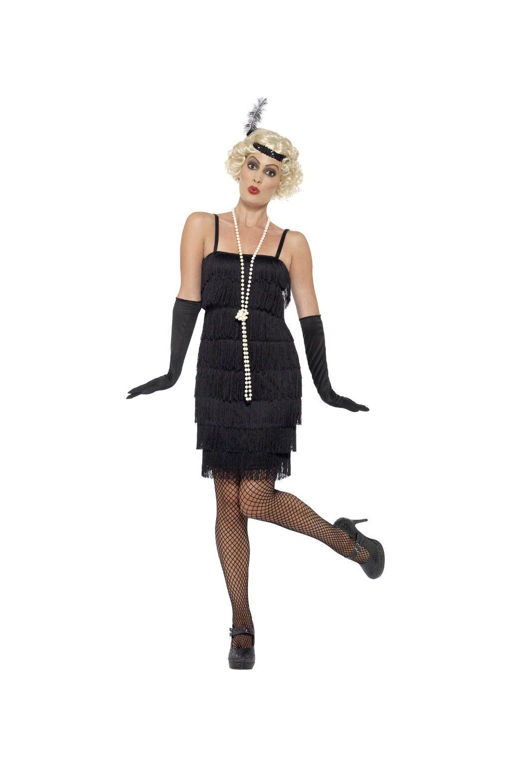 Charleston šaty s třásněmi 30. léta