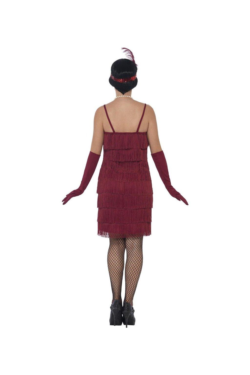 Dámský kostým 20. léta - Velký Gatsby bordó