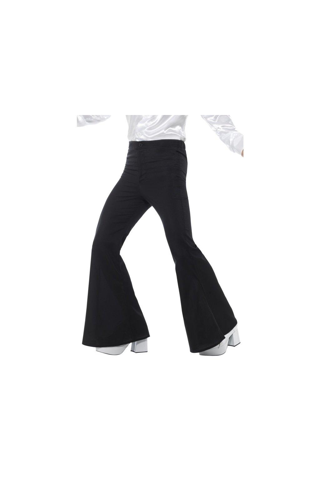 Retro kalhoty do zvonu černé