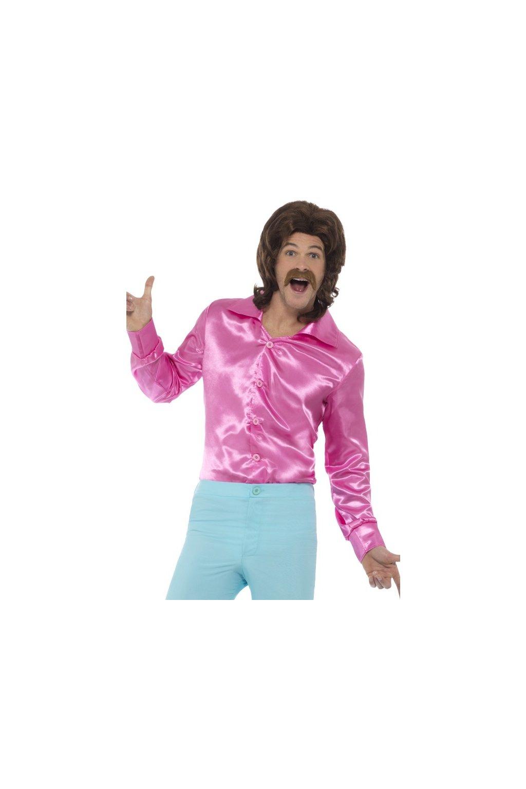 Retro košile růžová
