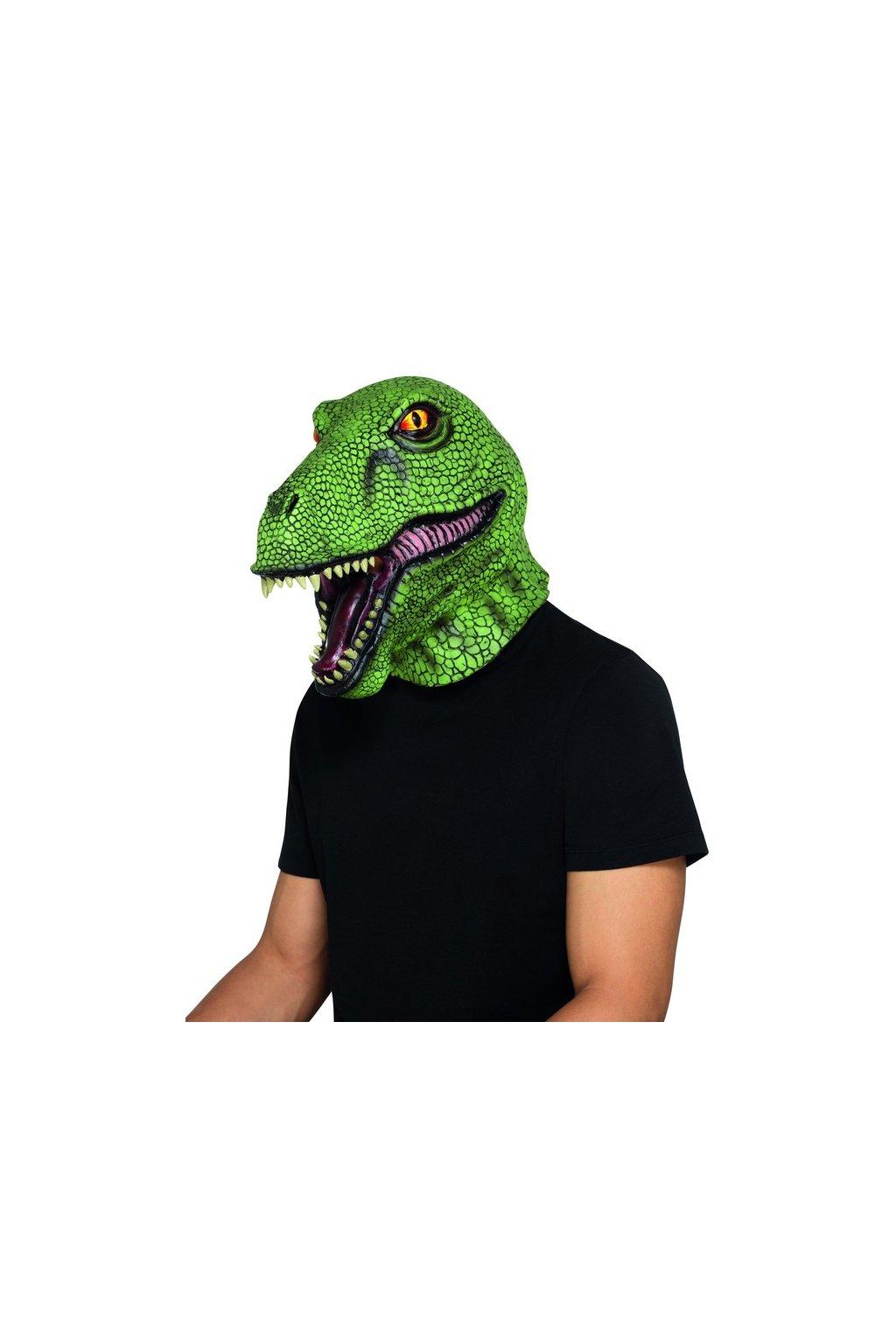 Dinosaurus - latexová maska