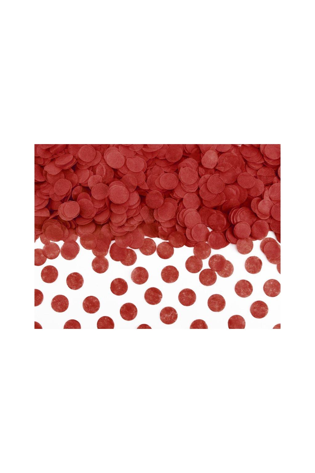 Papírové konfety - červené