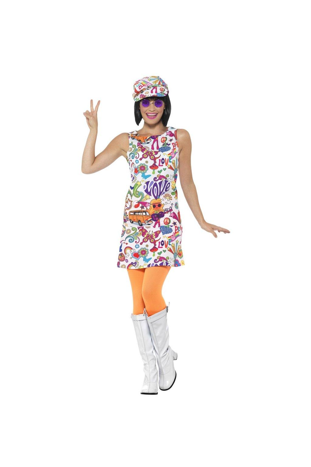 Groovy Chick - dámský kostým Hippies 60.léta