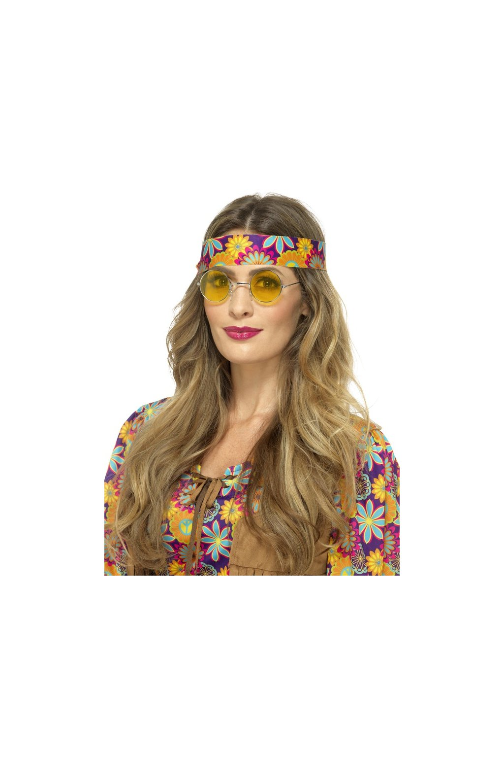 Brýle Hippie lenonky - žluté